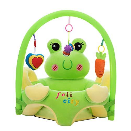 Cartoon Baby Plüsch Stuhl Sofa Infant Learning Sitz Stuhl Baby Spielzeug Support Sitz Training Stützfütterung (Frosch mit Stange)