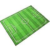 Alfombra de Campo de fútbol Alfombra de área de Juego para niños Alfombra de Juego para niños y niñas Decoración del hogar para Dormitorio Sala...