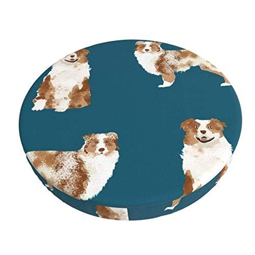 Stretch Stuhlhussen Bezug Australischer Schäferhund Red Merle Dog Simple Navy Voller Druck Husse für Stuhl rutschfest Bar Chair Cover 13 in