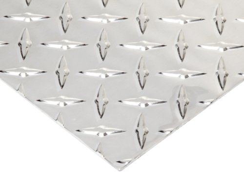 3003 Aluminum Sheet, Unpolished (Mill) Finish, H22 Temper, Diamond Tread, ASTM B209, 1/8