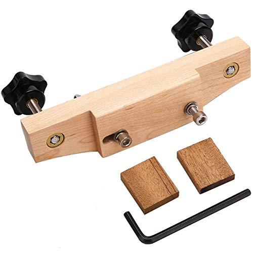 Generic 1 Set Solid Maple Stainless Steel Guitar Bridge Install Clamp Luthier Tools Guitar Parts Accessories (wood color)
