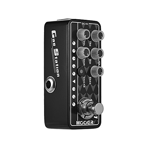MOOER Digital Preamp Preamplifier Guitar Effect Pedal 001 Gas Station High Gain MICRO PREAMP Series True Bypass