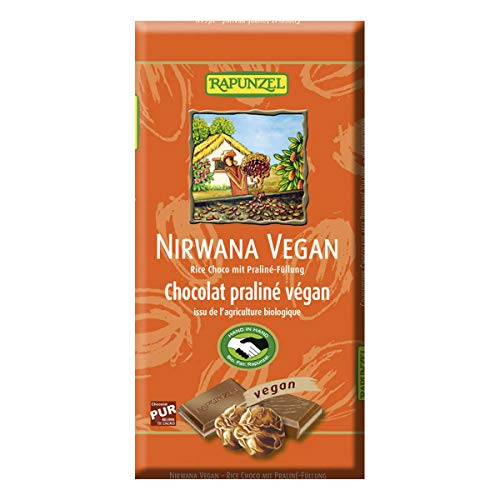 Rapunzel - Nirwana vegane Schokolade mit Praliné-Füllung HIH - 100 g - 12er Pack