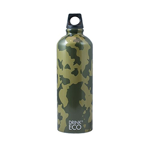 Alusport Bottles Drink Eco Camouflage Botella Deportiva, Unisex Adulto, Multicolor, L