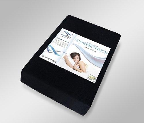 medilight Wasserbetten-Spannbetttuch passend für größe Bettgrößen 180-200 x 200-220cm (schwarz)