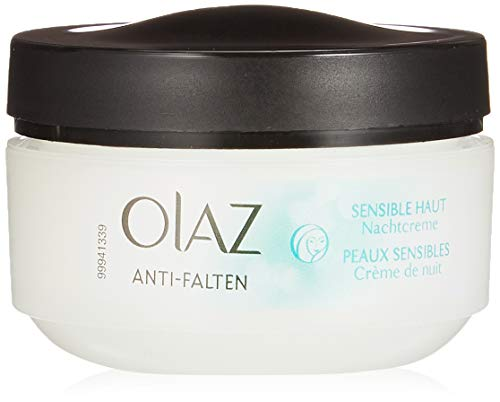 Olaz Anti-Falten Sensitive Nachtcreme Tiegel, 50 ml