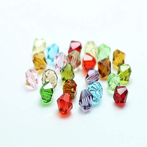 ALENAOO Kristallglas Bikon lose Perlen 2/3/4 / 6MM tschechische Perlen Schmuckherstellung liefert Samenperlen für Handarbeiten Silikon Zahnen, Mischfarbe, 2mm 195pcs
