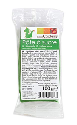 Pâte à sucre vert foncé 100g, Scrapcooking