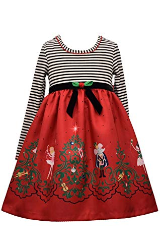 Bonnie Jean Girl's Christmas Holiday Nutcracker Ballet Dress (Multi Nutcracker, 10)