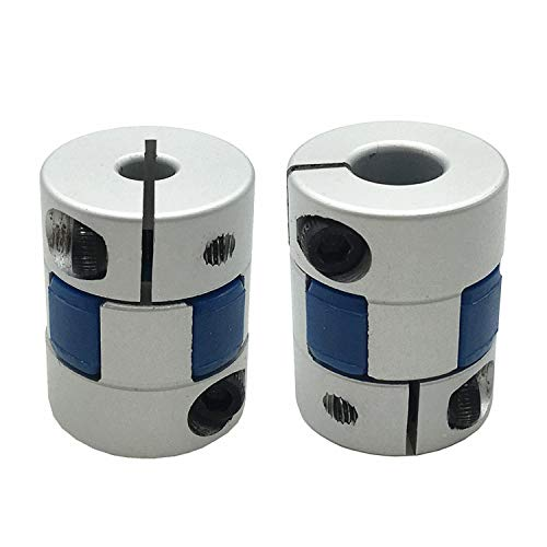 2PCS 5mm to 8mm Aluminium Plum Flexible Shaft Coupling D20 L25 Connector Flexible Coupler for 3D Printer/DIY Encoder and Servo Stepped Motor