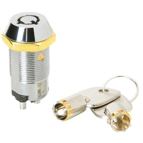 JAMECO VALUEPRO Key Lock Switch Single Pole Single Throw Round Terminal Key All Keyed Alike
