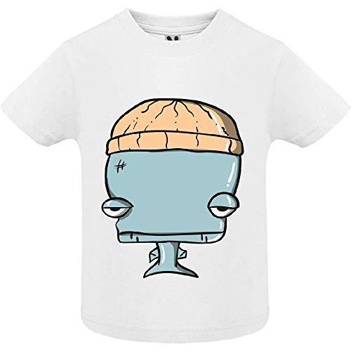 LookMyKase T-Shirt - Whale - Bébé Garçon - Blanc - 12mois