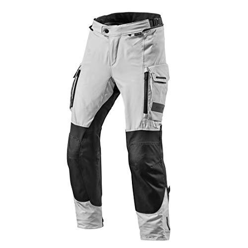 REV'IT! Pantalones de Motocicleta Offtrack Textilhose Schwarz/Silber M, Caballeros, Enduro/Adventure, Todo el año, Plata