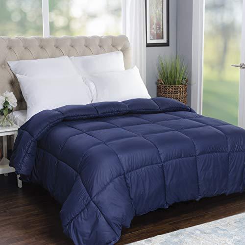 SUPERIOR Übergroße Steppdecke für alle Jahreszeiten, wendbar, für King-Size-Bett, Marineblau