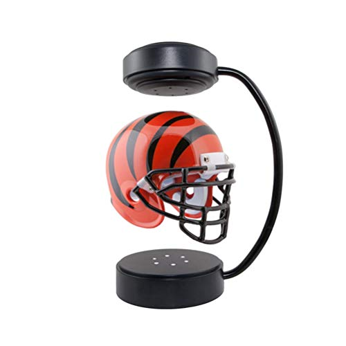 WWJJLL Collectible Ornaments for Sports Fans,Hover Helmet with Electromagnetic Bracket Display Stand Frame + Helmet Is Very Suitable for Office Desks,5