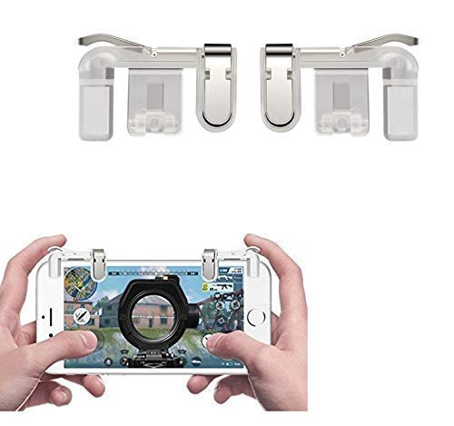 Ajudiya's PUBG Mobile Trigger    Transparent    1 Pair of Sensitive Game Triggers for PUBG/Knives Out/Rules of Survival for All Android and iOS Phones (Pack of 1)