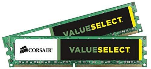Corsair CMV8GX3M2A1333C9 Value Select Memoria per Desktop Mainstream da 8 GB (2x4 GB), DDR3, 1333 MHz, CL9, 1.5 Volt