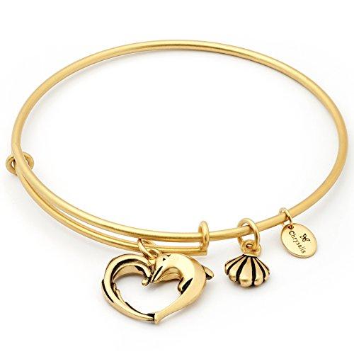Chrysalis CRBT1804GP Damen Armreif Charmed Collection Herz Herz der Aphrodite Messing Gold