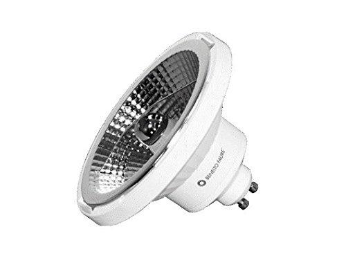 Bombilla LED AR111 DOLE GU10, 15 W, 230 V, 45°, tono cálido, 2700 K, reflector QR111