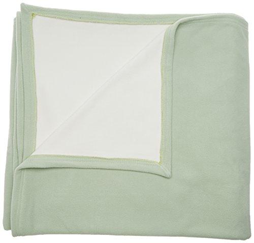 TOISON D'OR Couverture Polaire Bicolore 430 GR/m², 100% Polyester, Tilleul, 180X220 cm