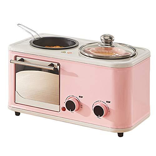 NOKUN Startseite Multi-Funktions-Chinese Frühstück Elektro-Ofen Toaster Spiegelei Bratenschäumter Milch Frühstück Bar, Regular, Rosa