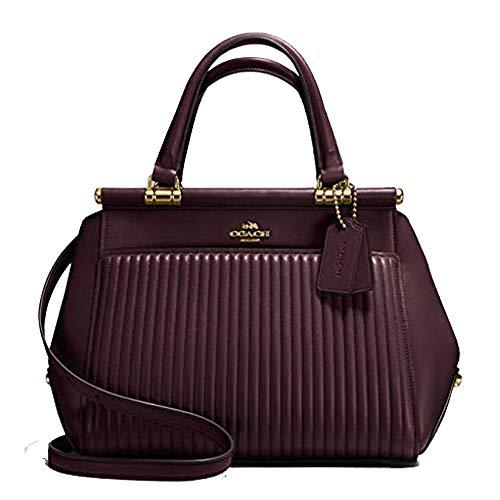 Coach Grace Oxblood Burgundy Quilt Satchel Leather Bag Handbag New