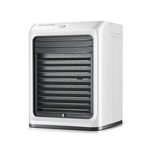 LIANGANAN USB Fan, Escritorio Mini ventilador de aire acondicionado de refrigeración de agua portátil USB móvil Pequeño Estudiante dormitorio del refrigerador de aire (Color: Blanco, Tamaño: 15.5x15x2