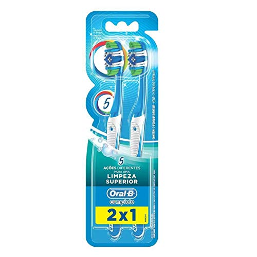 Escova Dental Oral-B Complete 5 Ações de Limpeza 40 Macia - 2 Unidades