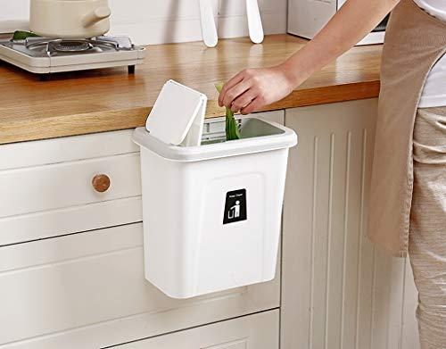 ZRWZZ opknoping prullenbak kleine kast keuken prullenbak keuken kast prullenbak met automatische terugkeer Cover dubbele open muur opknoping afvalbak
