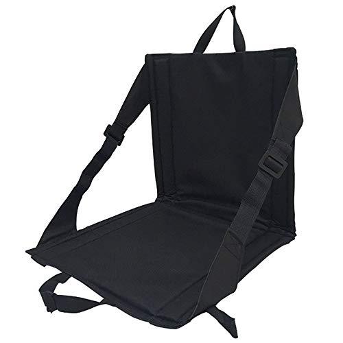 MiOYOOW Asiento plegable al aire libre, silla de camping acolchada con 2...