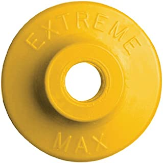 Extreme Max 5900.1206 Yellow Round Plastic Backer - 48 Piece
