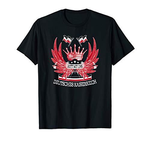 Deutsches Kaiserreich T-Shirt Gott Mit Uns Reichsflagge T-Shirt