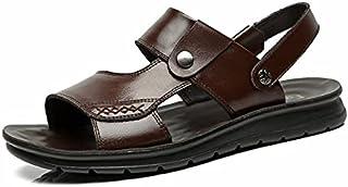 رجل فصل صيف حجم كبير خف مفتوح إصبع قدم شاطئ حذاء خف 40 صندلH1916بني