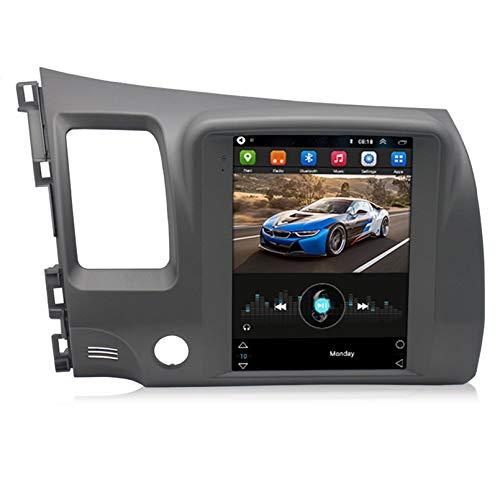 TIANDAO Android 10.0 8 Core Car Stereo Radio de navegación por satélite FM Am Autoradio 2.5D Pantalla táctil para Civic Navegador GPS Bluetooth WiFi GPS USB SD Player(Color:WiFi 2G+32G)