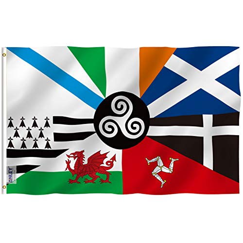 Anley Fly Breeze 3x5 Foot Celtic Nations Flag - Vivid Color and Fade Proof - Canvas Header and Double Stitched - Celtic Nations Flags Polyester with Brass Grommets 3 X 5 Ft