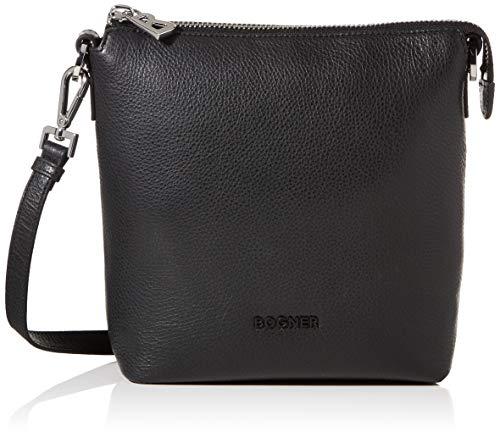 Bogner Andermatt Flavia Umhängetasche Damen Tasche aus Rindsleder, svz, 8.5x22.5x23 cm