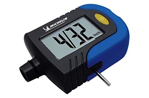 Michelin Digital Tyre Gauge with Tyre Pressure and Tread Depth Indicator, Switchable Readout for International Use & Extra Large Display for Easy Viewing (MN-4203)