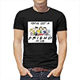 RNGIAN Playera Retro con Texto en inglés You' ve Got A Friend in Me para Hombre Drakblack XXL