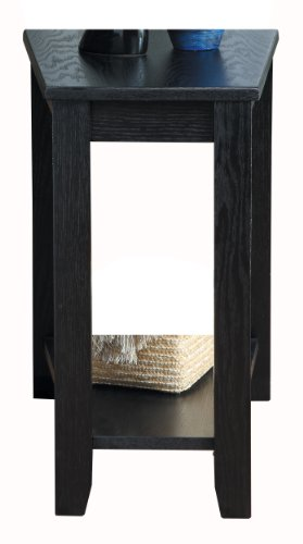 Homelegance Elwell Wedged Chairside Table Table, Black