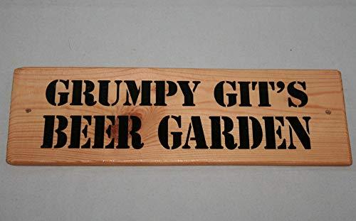 Yohoba Sign Grumpy Git Beer Gar Hanging Outdoor Plaque Party Deck Patio Shed Bbq