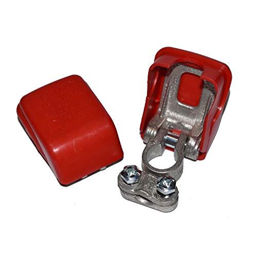 2 Stück Easy Click® Polklemmen für Autobatterie, Fahrzeugbatterie, Batterie Polklemmen, Schnellklemmen, Polklemme mit Schnellverschluss - Batterieklemmen mit Schnellverbinder bis 50 mm² 2 x rot
