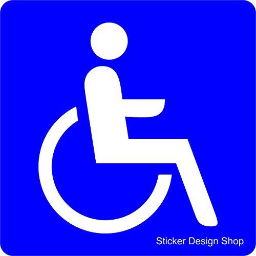 Sticker Design Shop Behinderten Rollstuhl Magnetschild Automagnet Auto Aufkleber Magnet Schild Blau 15 cm