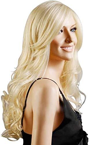 WANGZ Mode Perruque Rouge d'or Rose Transparente Naturel synthétique résistant à la Chaleur Cheveux Longs for Les Femmes 26 Pouces (Color : Gold)