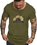 Camisetas para hombre simple impresión sólida estilo algodón diseño casual camisas Tops blusa