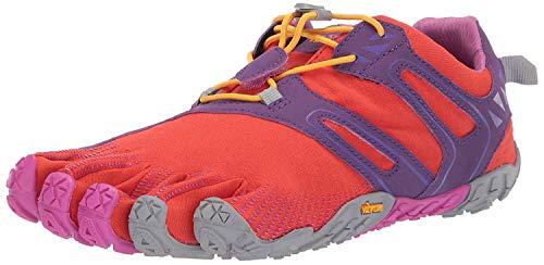 Vibram FiveFingers V-Trail, Zapatillas de Running para Asfalto Mujer, Naranja (Magenta/Orange Magenta/Orange), 37 EU