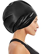 Vorshape Extra Large Swim Cap for Braids and Dreadlocks - Swimming Cap for Women Long Hair Shower Cap for Long Thick Curly Hair Locs Weaves Afros Keep Your Hair Dry