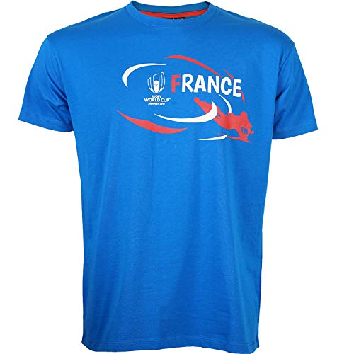 Rugby World Cup T-Shirt Frankreich – Weltmeisterschaft DE Rugby 2019 – Offizielle Kollektion Herrengröße XL blau