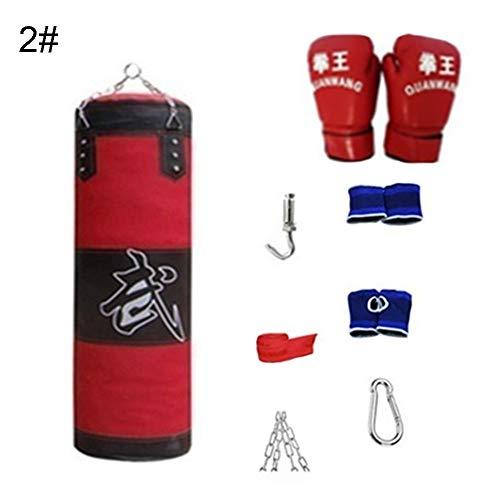 turkeybaby Boxsack Boxsack Set, Boxsack Für Boxtraining, 8 Stück/Set Fitness Training MMA Box Boxsack Sport Kick Hanging Sandsack 2#