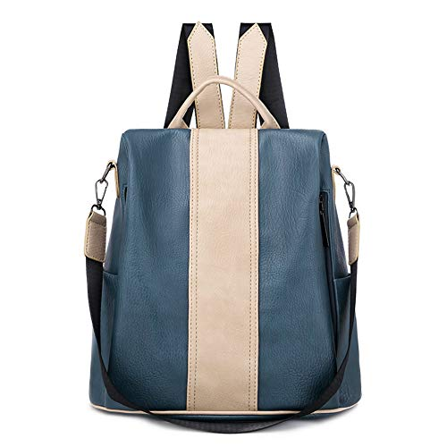 Fashionable personality trend backpack female new leisure multifunctional waterproof outdoor travel backpack Korean version of the solid color fashion schoolbag