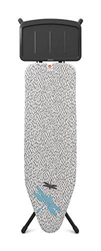 Brabantia – 131080 – Table à repasser B, 124x38 cm, repose centrale vapeur, Barley